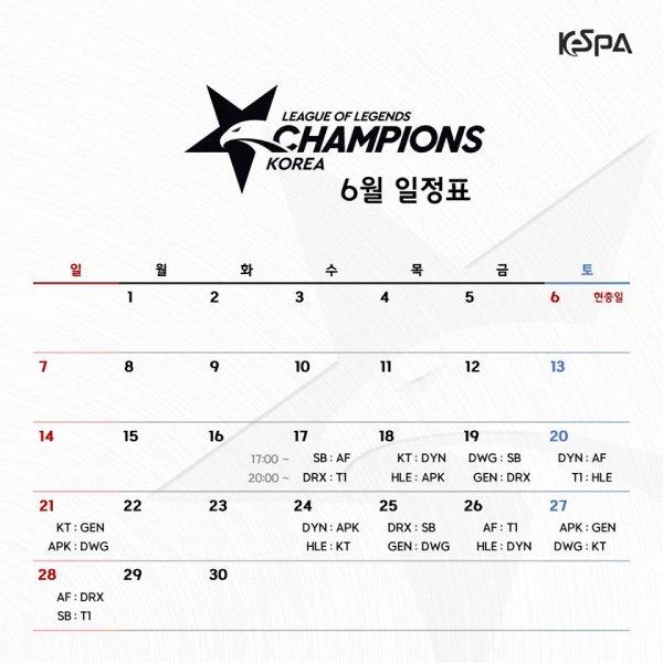 Lịch-thi-đấu-lck-mùa-hè-2020-tháng-6