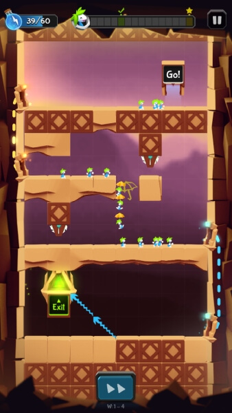 Lemmings-gameplay